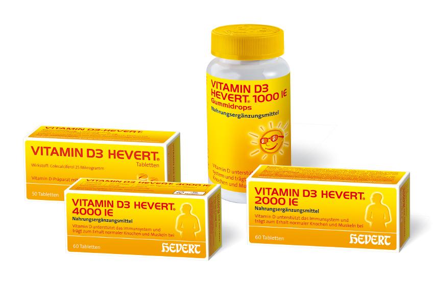 neue vitamin d3 pr parate von hevert f r jeden die. Black Bedroom Furniture Sets. Home Design Ideas