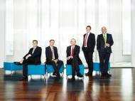 Von links nach rechts: Kai Völker, Frank Lamsfuß, Dr. Andreas Eurich, Christoph Laarmann, Martin Risse. Fotografin Claudia Kempf