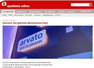 Medienriese im Apothekenmarkt: Laut APOTHEKE ADHOC wollte die Bertelsmann-Tochter Arvato bei Sanicare einsteigen.