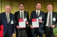 Freistellungs-Stipendiaten der Deutschen Leberstiftung 2018 – Urkundenverleihung im Rahmen der GASL-Jahrestagung (v.l.n.r.): Prof. Dr. Michael P. Manns, Dr. Robin A. Greinert, Dr. Kornelius Schulze, Prof. Dr. Ansgar Lohse.