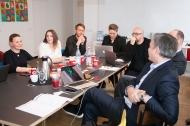 Die Jury für die VISION.A Awards 2018: Anike Oleski, Kim Lohmann, Patrick Hollstein, Hanna Bumann, Thomas Bellartz, Ulrich Rindt, Andreas Arntzen
