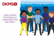 Infografik acht Millionen registrierte DKMS-Spender
