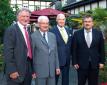 Alte und neue Besetzung des Beirats der Hevert-Arzneimittel GmbH & Co. KG (von links nach rechts) – Frank Kube, Wolfgang Simon (ausgeschieden), Dr. Axel Sander und Franz-Josef Hans (neues Mitglied).