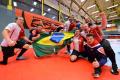 """Das angefügte Foto zeigt Deutschlands Sitzvolleyballer beim Halbfinale gegen Russland. Quelle """"Ralf Kuckuck, DBS-Akademie""""."""