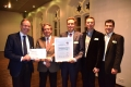 v.l. Prof. Prof. h. c. Dr. med. Thomas Lenarz (MHH), Hans-Dieter Borowsky (auric), Prof. Dr. Dipl.-Inform. Andreas Büchner (DHZ), Dr. Dipl.-Ing. Mark Winter (auric), Ingo Klokemann (DHZ).
