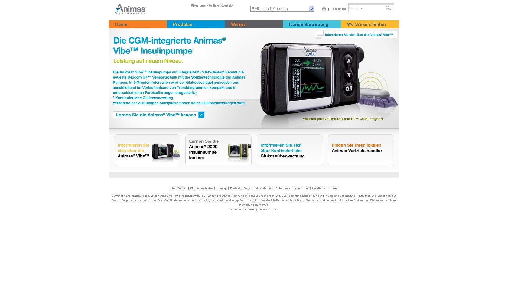 Animas 174 Insulinpumpen Jetzt Online Gesundheit Adhoc