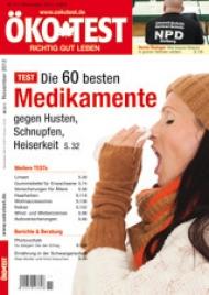 Das ÖKO-TEST-Magazin November 2012 gibt es seit dem 26. Oktober 2012 im Zeitschriftenhandel. Das Heft kostet 3,80 Euro.