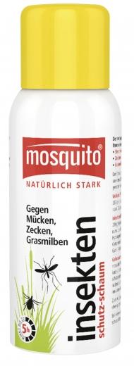 Der neue mosquito® Insektenschutz-Schaum mit innovativer Schaum-Dosierung ist erhältlich bei WEPA Apothekenbedarf. PZN: 03724230 empf. AVP: 8,99 Euro