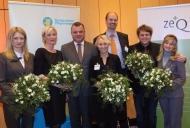 Preisträger und Laudatoren (v.l.n.r. Katja Stuschka, Dorothea Fuchs, Peter Bechtel, Kathrin Lipp, Rüdiger Herbold, Lars Lippkowski, Saskia Beißer)