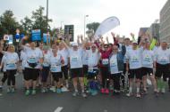 Vorfreude auf den Start. Gemeinsames Laufen für bessere Blutzuckerwerte beim Köln Marathon 2014.