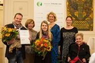 Von links nach rechts: Medienpreisträger Markus Wollnik, Prof. Erika Gromnica-Ihle, Britta Hensen, Edith Heitkämper, Christina Claußen (Pfizer), Christel Kalesse