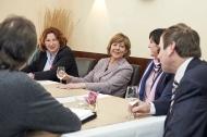 v.l.n.r. Prof. Dr. med. Elisabeth Pott, Daniela Schadt, Cristina Méndez Rodriguez und Dr. Ulrich Heide im Gespräch mit der Presse
