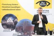 PRO RETINA Vorsitzender Franz Badura bei einer Veranstaltung in Köln 2015