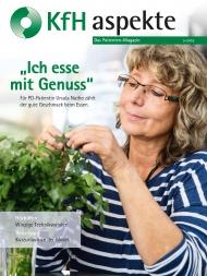 Patientenmagazin KfH-aspekte 3/2016 mit dem Schwerpunkt zum Thema Ernährung für nierenkranke Patienten.