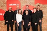Jury-Mitglieder VISION.A Awards 2018 v.l.n.r.: Thomas Bellartz (Vorsitz), Ulrich Rindt, Kim Lohmann, Andreas Arntzen, Anike Oleski, Hanna Bumann, Patrick Hollstein