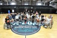 Ein rollender Erfolg: das WM-Rollstuhlbasketball-Pressetraining im Juli 2018. Foto: MSSP - Michael Schwartz
