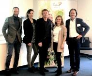 Beim Expertenforum zu gesunder, nachhaltiger, pflanzenbasierter Ernährung in Berlin: Michael Blasius (BKK ProVita), Melanie Fülles (a'verdis), Dr. Karl Blum (DKI), Dr. Petra Steffen (DKI), Rainer Röhl (a'verdis) (v. l. n. r.)