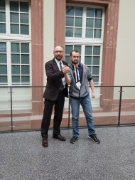 v. l. Darell Moellendorf und sein Spender Frank Keßler