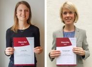Vernetzungs-Stipendiaten der Deutschen Leberstiftung 2020 (v. l. n. r.): Svenja Kolb und Dr. Theresa Wirtz (Quelle: Deutsche Leberstiftung)