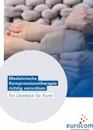 """Titelseite des Ratgebers """"Medizinische Kompressionstherapie richtig verordnen – ein Überblick für Ärzte"""""""