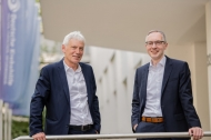 Vorstand der Deutschen Krebshilfe: Gerd Nettekoven (Vorsitzender, links) und Dr. Franz Kohlhuber, Quellenangabe:  Deutsche Krebshilfe