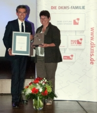 Brigitte Lehenberger erhielt den DKMS Ehrenamtspreis