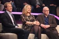 v.l. Oliver Pocher, Barbara Schöneberger, WWM-Gewinner Ralf Schnoor