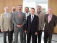 v.l.n.r.: Dr. Andreas Kretschmer (Geschäftsführer Ärzteversorgung Westfalen-Lippe), Michael Jung (Hauptgeschäftsführer ABV), Dr. Günter Kloos (Vorsitzender des Verwaltungsausschusses der Ärzteversorgung Westfalen-Lippe), Dr. Gerhard Saam (Geschäftsführer Ärzteversorgung Westfalen-Lippe), Daniel Bahr, MdB (FDP-Bundestagsfraktion), Karl-Heinz Müller (Vorsitzender des Aufsichtsausschusses der Ärzteversorgung Westfalen-Lippe), Dr. Ulrich Kirchhoff (Vorsitzender des Vorstandes ABV)