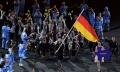"""Deutsche Paralympische Mannschaft bei der Eröffnungsfeier der Paralympics in Rio de Janeiro (Quelle """"Ralf Kuckuck / DBS"""")"""