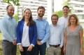 Das Projektteam: Dr. Christoph Karlheim, Sarah Palmdorf, Tristan Müskens, Dr. Stefan Kreisel, Dr. Christoph Dockweiler und Prof.'in Dr. Claudia Hornberg (v.l.). Foto: Universität Bielefeld