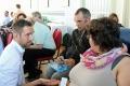 Falk Terlinden im Gespräch mit Selbstvertretern beim Fachtag Gewaltprävention der Lebenshilfe NRW. Quelle: Lebenshilfe NRW