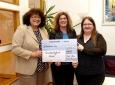 Bärbel Handlos (Gesundheitstreffpunkt Mannheim), Jenny Kiefer (BKK Pfalz) und Sheila Küffen (regionale Arbeitsgemeinschaft Selbsthilfegruppen) v.l.n.r.