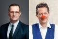 Bundesgesundheitsminister Jens Georg Spahn (links). Foto: BMG Kabarettist Dr. Eckart von Hirschhausen (rechts). Foto: Steffen Jänicke 2018