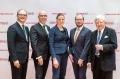 Sobek-Preisverleihung: Ulrich Steinbach, Prof. Dr. Burkhard Becher, Dr. Sarah-Christin Staroßom, Dr. Simon Hametner, Prof. Dr. Klaus V. Toyka (v.l.n.r.)