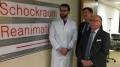 Dr. med. Thomas Groß (Chefarzt Zentrale Notaufnahme), Michael Ackermann (Geschäftsführer) und Dr. med. Wolfgang Schmidt-Barzynski (Ärztl. Direktor)