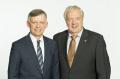 Die beiden alternierenden AOK-Verwaltungsratsvorsitzenden Johannes Heß (links) und Georg Keppeler kritisieren die geplanten gesetzlichen Regelungen zur Finanzierung der für 2021 erwarteten Deckungslücke in der Gesetzlichen Krankenversicherung von 16,6 Milliarden Euro. Foto: AOK/hfr.