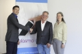 v.l.n.r. Jens Kirsch (CEO terraplasma), Uwe Perbandt (CEO Viromed) und Petra Speidel (CFO terraplasma), Bildrechte: Viromed GmbH