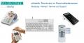eHealth-Terminals im Gesundheitswesen, zugelassen für den Anschluss an die Telematikinfrastruktur in Arztpraxen, Zahnarztpraxen, Apotheken und Krankenhäuser. Quellenangabe: VIA DA VINCI.dialog GmbH